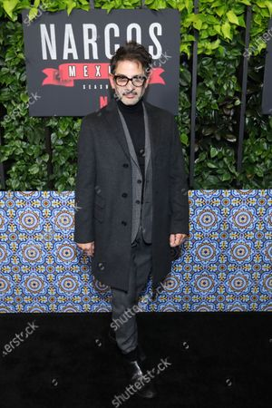 Miguel Rodarte arrives on the red carpet prior to a special screening of Netflix's 'Narcos: Mexico Season 2' at the Netflix Home Theater in Los Angeles, California, USA, 06 February 2020.