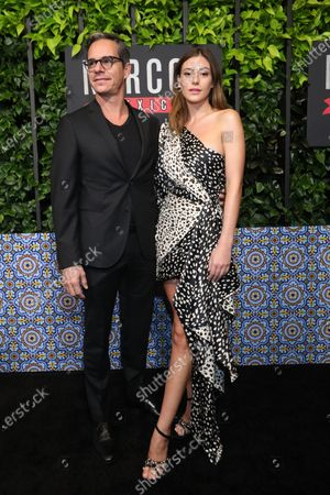 Tony Dalton (L) and Mexican actress Alejandra Guilmant (R) arrive on the red carpet prior to a special screening of Netflix's 'Narcos: Mexico Season 2' at the Netflix Home Theater in Los Angeles, California, USA, 06 February 2020.