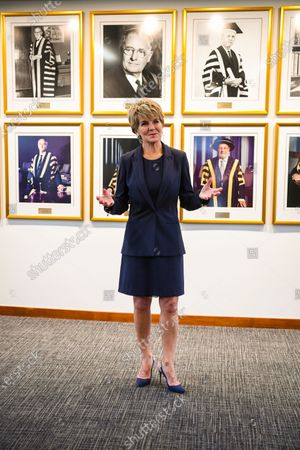 Australian National University (ANU) Chancellor Julie Bishop poses for a photograph on her first day at work at the ANU in Canberra, Australian Capital Territory, Australia, 06 February 2020 (issued 07 February 2020). Julie Bishop, who was Australia's Member of Parliament (MP) for Curtin from 1998 to 2019, is the 13th Chancellor of the ANU, the first ever female Chancellor at the university.