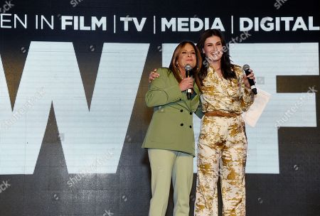 Cathy Schulman and Idina Menzel