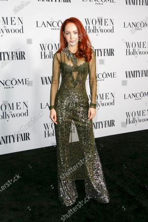 Ksenia Solo attends the Vanity Fair and Lancome Women In Hollywood Celebration at the Soho House in Hollywood, California, USA, 06 February 2020.