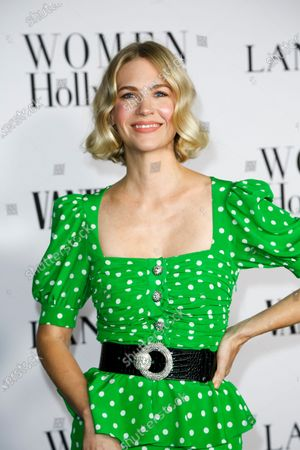 Stock Image of January Jones attends the Vanity Fair and Lancome Women In Hollywood Celebration at the Soho House in Hollywood, California, USA, 06 February 2020.