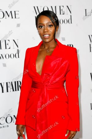 Aja Naomi King attends the Vanity Fair and Lancome Women In Hollywood Celebration at the Soho House in Hollywood, California, USA, 06 February 2020.