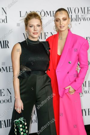 Katheryn Winnick (L) and Georgia Hirst attend the Vanity Fair and Lancome Women In Hollywood Celebration at the Soho House in Hollywood, California, USA, 06 February 2020.