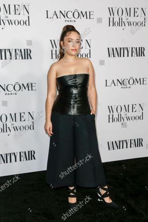 Gideon Adlon attends the Vanity Fair and Lancome Women In Hollywood Celebration at the Soho House in Hollywood, California, USA, 06 February 2020.