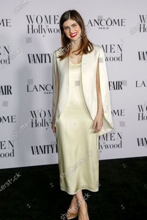 Alexandra Daddario attends the Vanity Fair and Lancome Women In Hollywood Celebration at the Soho House in Hollywood, California, USA, 06 February 2020.