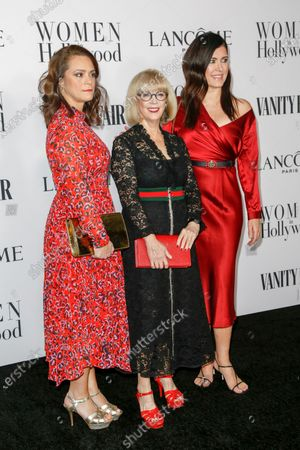 Lancome executives  Verane DeMarffy, Carol Hamilton and Melaney Collett attend the Vanity Fair and Lancome Women In Hollywood Celebration at the Soho House in Hollywood, California, USA, 06 February 2020.