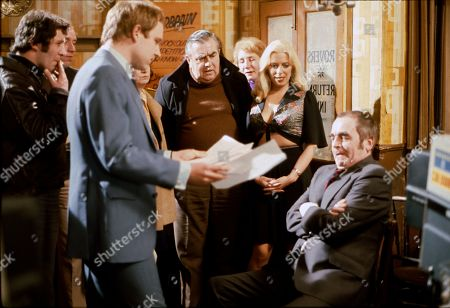 Geoffrey Bateman (as Philip Lightfoot), Bernard Youens (as Stan Ogden), Julie Goodyear (as Bet Lynch) and Ron McCormick as Herbert Siddall