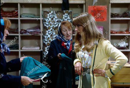 Barbara Ashcroft (as Mrs Ferguson) and Helen Worth (as Gail Potter)