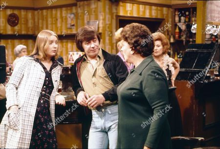 Anne Kirkbride (as Deirdre Langton), Neville Buswell (as Ray Langton), Betty Driver (as Betty Turpin) and Barbara Knox (as Rita Littlewood)