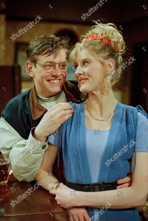 Stock Image of Raquel Wolstenhulme, as played by Sarah Lancashire, and Gordon Blinkhorn, as played by Mark Chatterton