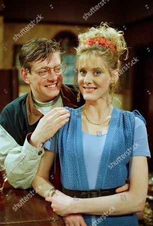 Stock Photo of Raquel Wolstenhulme, as played by Sarah Lancashire, and Gordon Blinkhorn, as played by Mark Chatterton