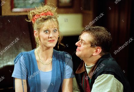 Raquel Wolstenhulme, as played by Sarah Lancashire, and Gordon Blinkhorn, as played by Mark Chatterton