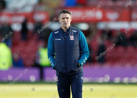 8th February 2020; Griffin Park, London, England; English Championship Football, Brentford FC versus Middlesbrough; Middlesbrough and Republic of Ireland Assistant Manager Robbie Keane