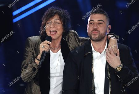 Gianna Nannini and Coez (R) perform on stage at the Ariston theatre during the 70th Sanremo Italian Song Festival, Sanremo, Italy, 07 February 2020. The festival runs from 04 to 08 February.