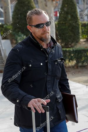 Stock Image of Undercover Global company owner David Morales is seen at his arrival to the Spanish High Court in Madrid, Spain, 07 February 2020 to testify in the case of allegedly spying to WikiLeaks' founder Julian Assange. Undercover Global was the company responsable between 2012 and 2017 of the security of Assange in the Ecuadorian embassy in London.