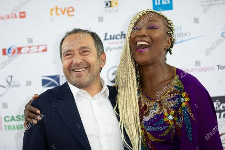 Stock Photo of Patrick Timsit and Nadege Beausson-Diagne