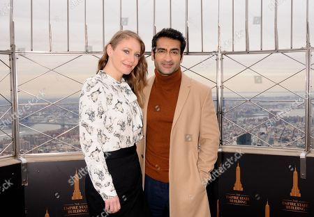 Stock Photo of (L-R) Emily V. Gordon and Kumail Nanjiani
