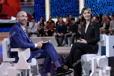 Massimo Gramellini and Paola Cortellesi
