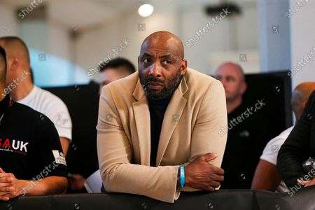 Johnny Nelson watches on during the Kell Brook vs Mark DeLuca Weigh-In at the Millennium Gallery, Arundel Gate, Sheffield