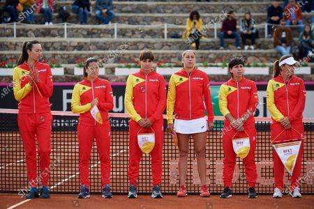 Editorial photo of Spain v Japan, Fed Cup, Tennis, La Manga Club, Cartagena, Spain - 07 Feb 2020