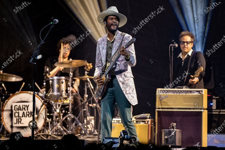 Gary Clark Jr. performs onstage during the Voices for Justice fundraising event for Proclaim Justice, Inc. at ACL Live at The Moody Theatre