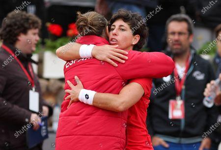 Editorial picture of Spain v Japan, Fed Cup, Tennis, La Manga Club, Cartagena, Spain - 07 Feb 2020