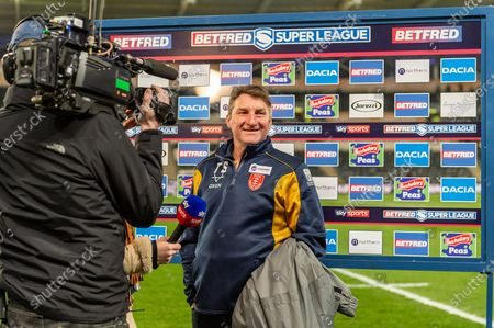 Hull KR Head Coach Tony Smith speaking with the press before the Betfred Super League match between Hull FC and Hull Kingston Rovers at Kingston Communications Stadium, Hull