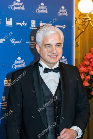 Stock Photo of Artistic Director of the Semper Opera Ball Hans-Joachim Frey poses for the media prior the SemperOpernball 2020 in the Semperoper opera house in Dresden, Germany, 07 February 2020. The Semper Opera Ball takes place for the 15th time. The annual event is held under the motto 'Rushing like a fairy tale - Dresden celebrates'.