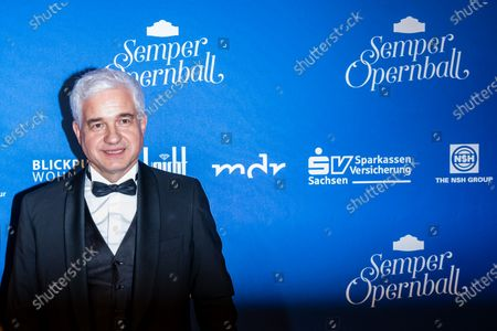 Stock Image of Artistic Director of the Semper Opera Ball Hans-Joachim Frey poses for the media prior the SemperOpernball 2020 in the Semperoper opera house in Dresden, Germany, 07 February 2020. The Semper Opera Ball takes place for the 15th time. The annual event is held under the motto 'Rushing like a fairy tale - Dresden celebrates'.