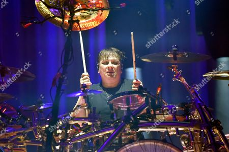 Stock Photo of Ray Luzier of Korn performs at BMO Harris Bank Center, in Rockford, Ill