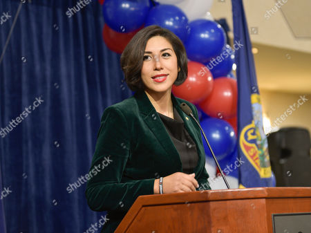 Then Democratic gubernatorial candidate Paulette Jordan addresses supporters at an election night party in Boise, Idaho. Jordan has announced she's challenging Republican U.S. Sen. Jim Risch. Jordan announced Friday, Feb. 7, 2020, she plans to run against the two-term senator. Jordan in 2018 became the first woman to become the Democratic gubernatorial nominee in Idaho but lost in the general election to Republican Gov. Brad Little