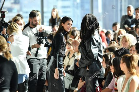 Kendall Jenner and Luka Sabbat in the front row