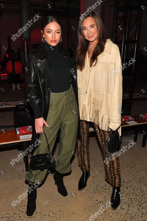 Stock Image of Delilah Hamlin and Danielle Bernstein in the front row
