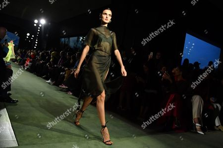 Stock Image of Blanca Padilla on the catwalk
