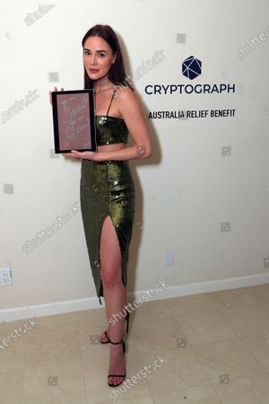 Stock Image of Exclusive - Christa B. Allen with a Cryptograph 'Doodle for Dollars'