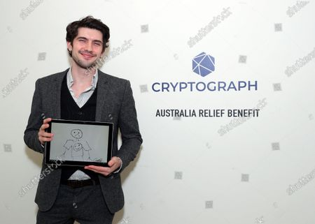 Stock Picture of Exclusive - Carter Jenkins with a Cryptograph 'Doodle for Dollars'