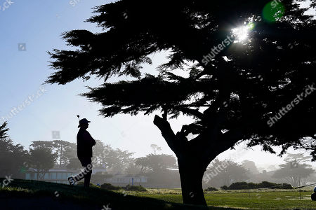 Actor Bill Murray walks to the 12th tee of the Monterey Peninsula County Club Shore Course during the second round of the AT&T Pebble Beach National Pro-Am golf tournament, in Pebble Beach, Calif