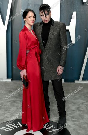 Stock Photo of Marilyn Manson and Lindsay Usich