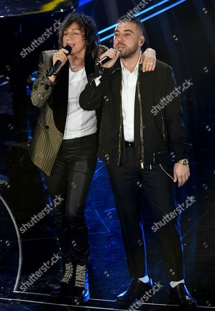 Stock Picture of Gianna Nannini and Silvano Albanese