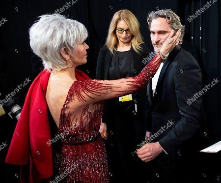 Jane Fonda and Joaquin Phoenix