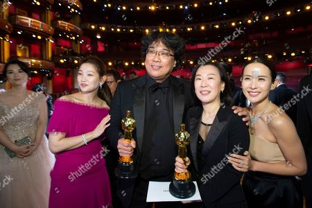 Bong Joon Ho and Kwak Sin-ae - Best Director - Parasite, Best Picture - Parasite, Best International Feature Film - Parasite and Park So-dam