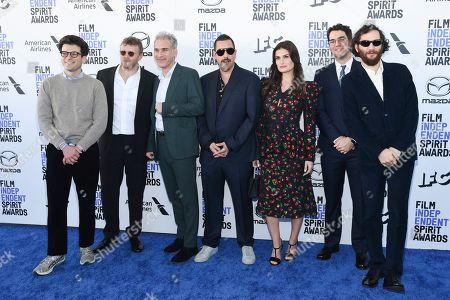 Eli Bush, Sebastian Bear-McClard, Ronald Bronstein, Adam Sandler, Idina Menzel, Ben Safdie and Joshua Safdie