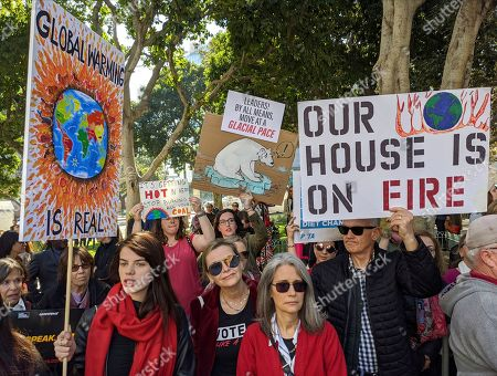 Stock Picture of French actress Sonia Ben Ammar, left, participates in Janer Fonda's Fire Drill Fridays rally, calling for action to address climate change at Los Angeles City Hall . A half-century after throwing her attention-getting celebrity status into Vietnam War protests, Fonda is now doing the same in a U.S. climate movement where the average age is 18