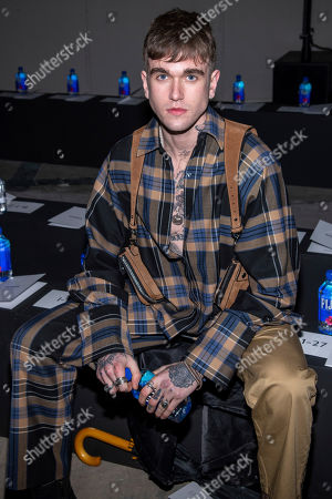 Gabriel-Kane Day-Lewis attends the Monse fashion show at 30 Wall Street during NYFW Fall/Winter 2020 on in New York