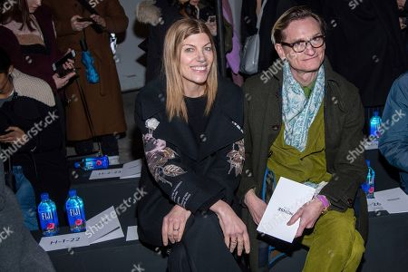 Virginia Smith, Hamish Bowles. Virginia Smith and Hamish Bowles attend the Monse fashion show at 30 Wall Street during NYFW Fall/Winter 2020 on in New York