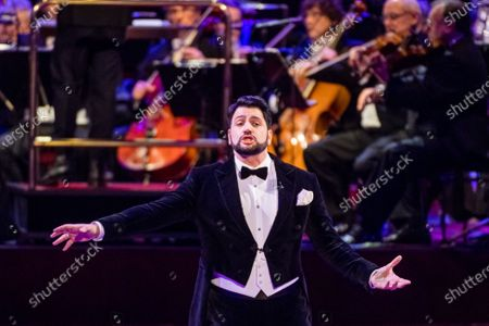 Azerbaijani opera tenor Yusif Eyvazov, the husband of Russian opera soprano Anna Netrebko, performs during the SemperOpernball 2020 in the Semperoper Opera House in Dresden, Germany, 07 February 2020. The annual event, now in its fifteenth year, is held under the motto 'Rushing like a fairy tale - Dresden celebrates'.