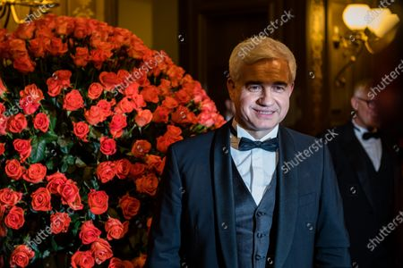 The Artistic Director of the Semper Opera Ball Hans-Joachim Frey poses for a photograph prior to the SemperOpernball 2020 in the Semperoper Opera House in Dresden, Germany, 07 February 2020. The annual event, now in its fifteenth year, is held under the motto 'Rushing like a fairy tale - Dresden celebrates'.