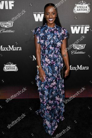 Skye P. Marshall attends the 13th Annual Women In Film Female Oscar Nominees Party at Sunset Room Hollywood, in Los Angeles