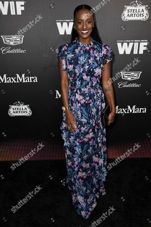 Stock Image of Skye P. Marshall attends the 13th Annual Women In Film Female Oscar Nominees Party at Sunset Room Hollywood, in Los Angeles